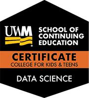 Digital Badge for Data Science Certificate Track