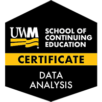Digital Badge for Data Analysis Certificate