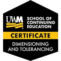 Digital Badge for Dimensioning and Tolerancing Certificate