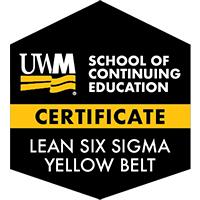 Digital Badge for Lean Six Sigma Yellow Belt