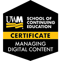 Digital Badge for Managing Digital Content Certificate