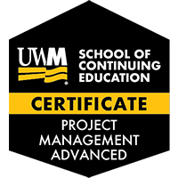 Digital Badge for Project Management – Advanced Certificate