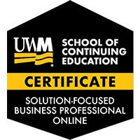 Digital Badge for Solution-Focused Business Professional Certificate