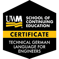 Digital Badge for Technical German Language for Engineers Certificate