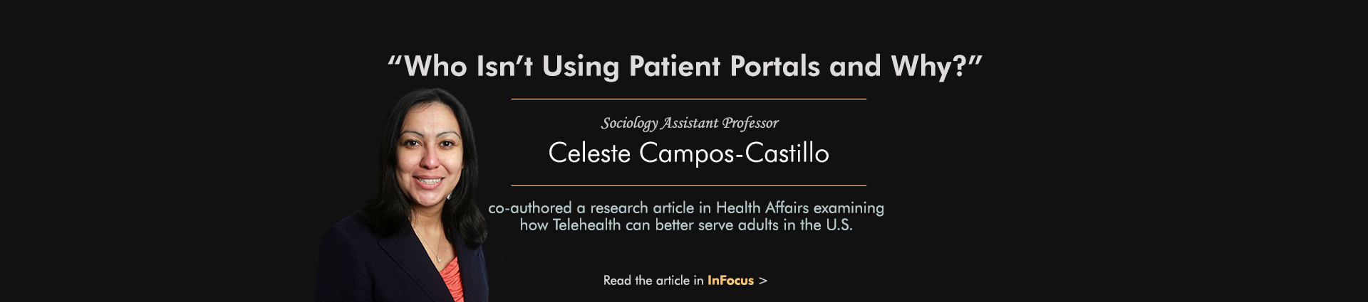 Who's using patient portals - Celeste Campos-Castillo