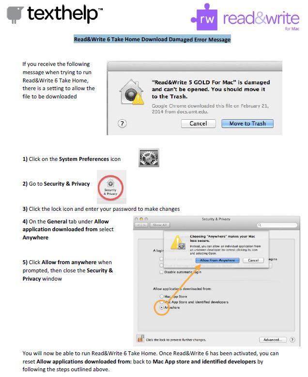 RWG Mac Download Damaged