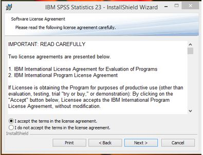 Spss uwm software asset management read the license agreement select i accept the terms in the license agreement and click next platinumwayz