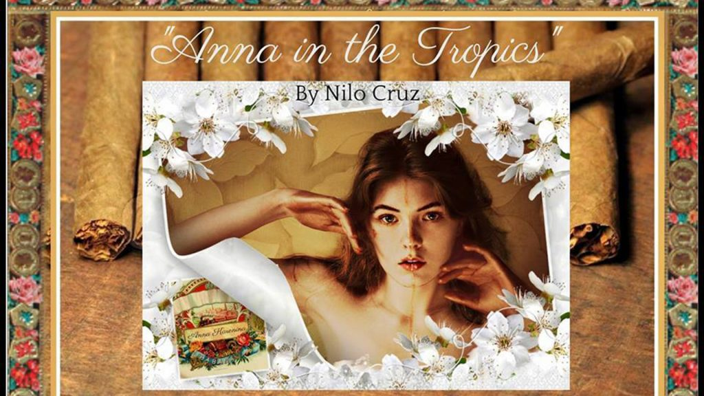 "Promotional poster for ""Anna in the Tropics"" at the University of Wisconsin-Milwaukee"