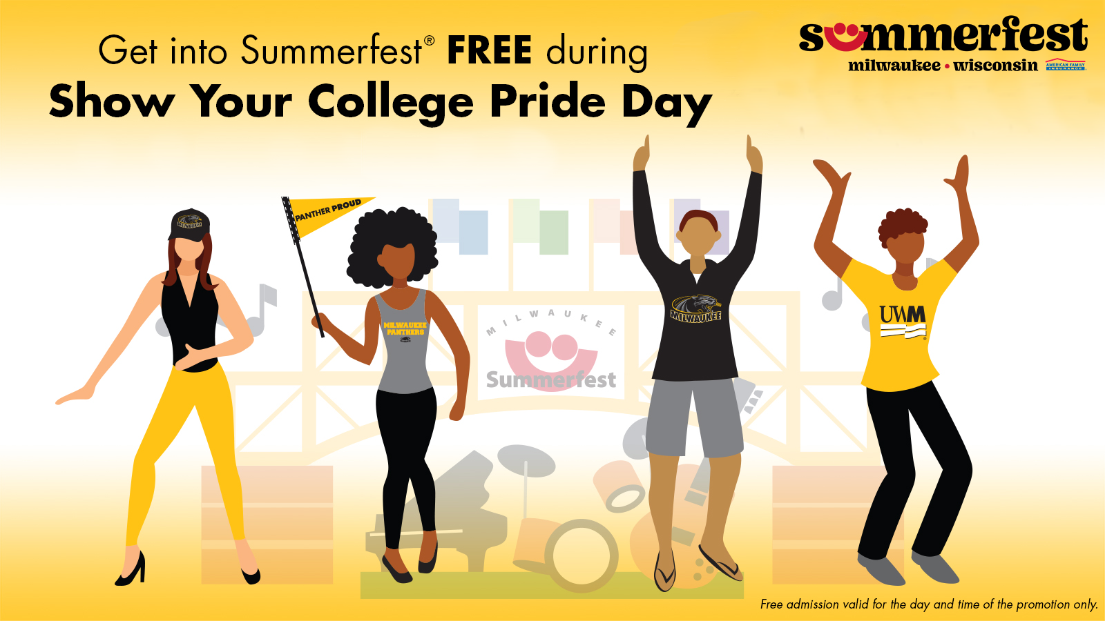 Details For Event 20182 – Show Your College Pride Day at Summerfest
