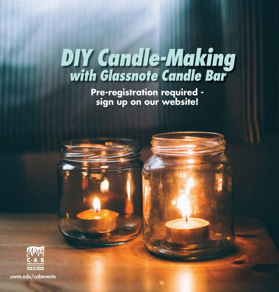 Marketing flyer for the DIY Candle-Making event on September 23rd