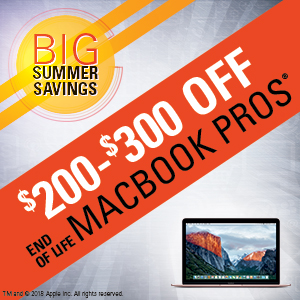 $200-$300 off end of life MacBook Pros