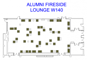 Alumni Fireside Lounge Floor Plan