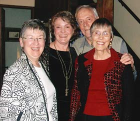 Margaret Bull, Ann Greer, Will Kraegel and Janet Kraegel