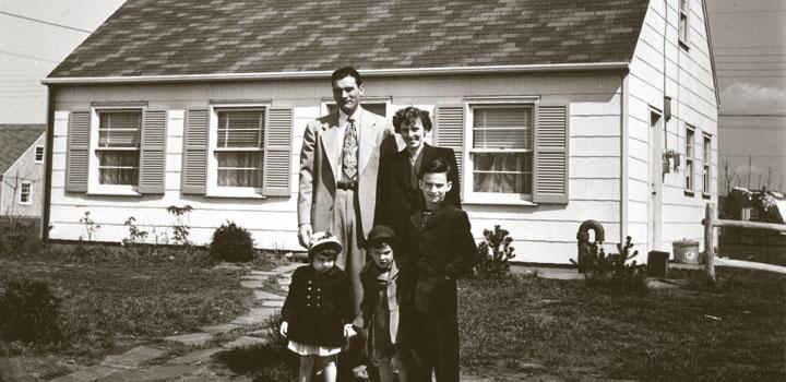 Levittown postwar housing