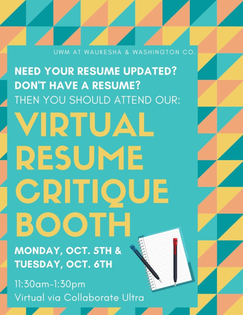resume critique booth