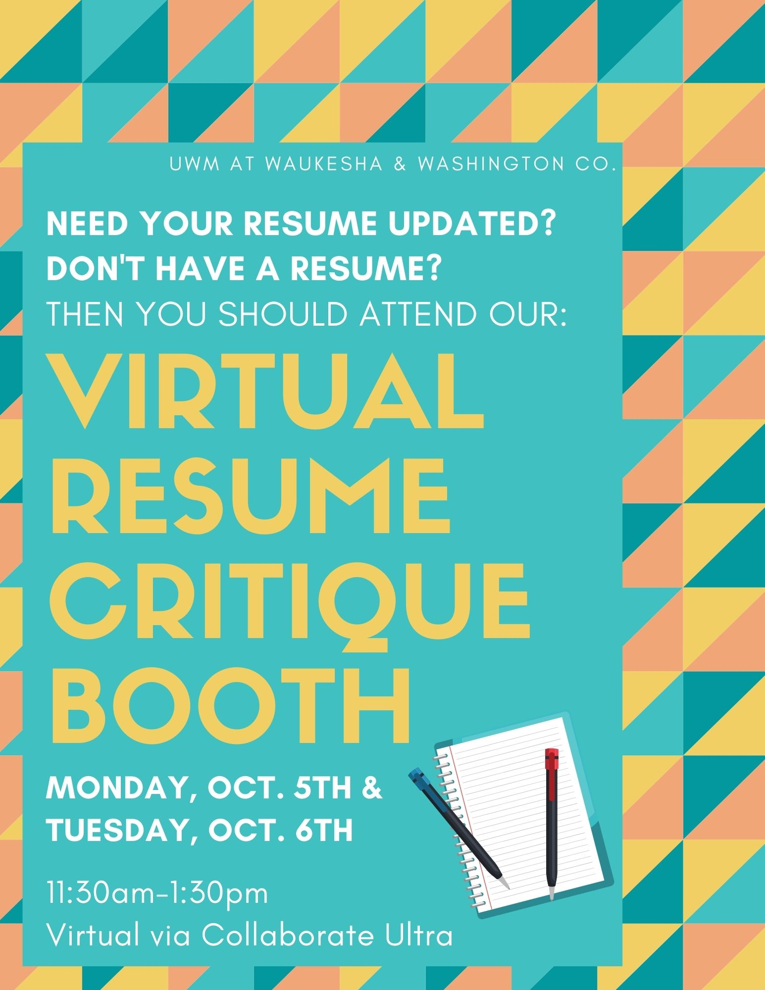 Details For Event 18666 – Virtual Resume Critique Booth