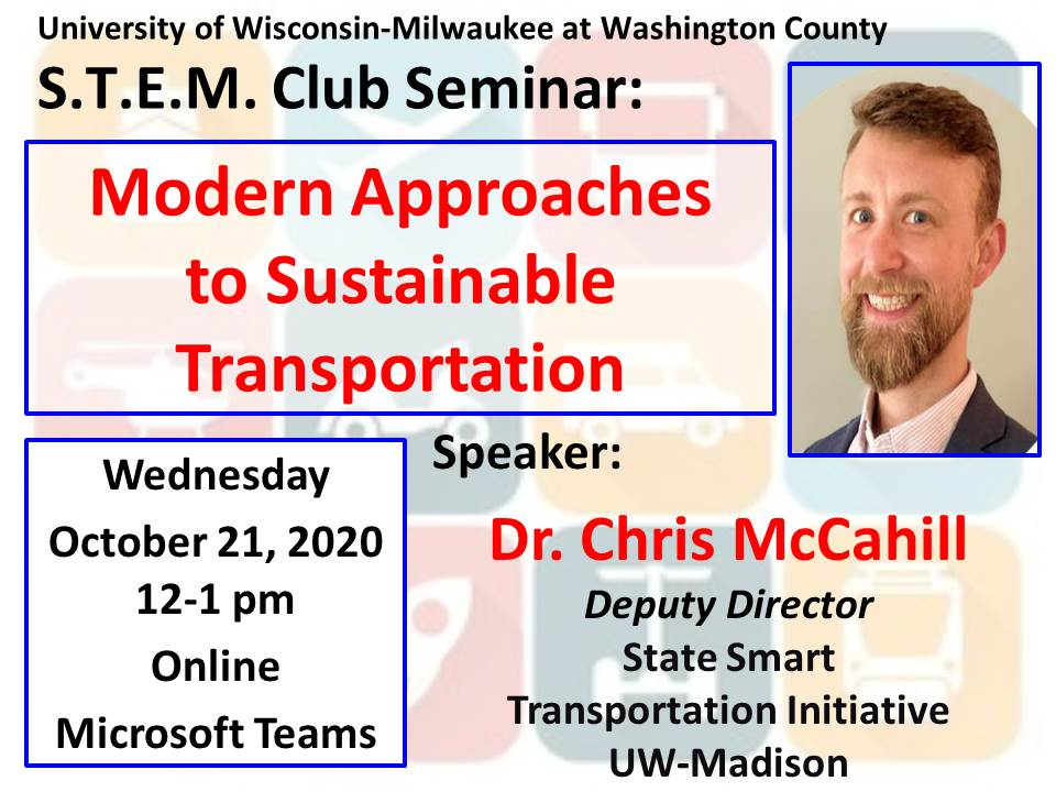 Details For Event 18823 – S.T.E.M. Seminar: Modern Approaches to Sustainable Transportation
