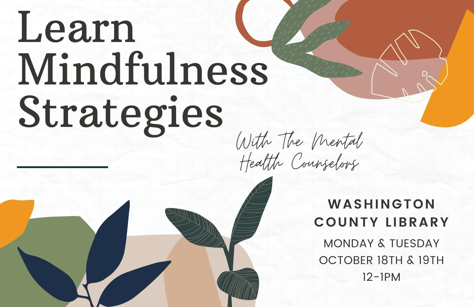 Details For Event 20499 – Learn Mindfulness Strategies
