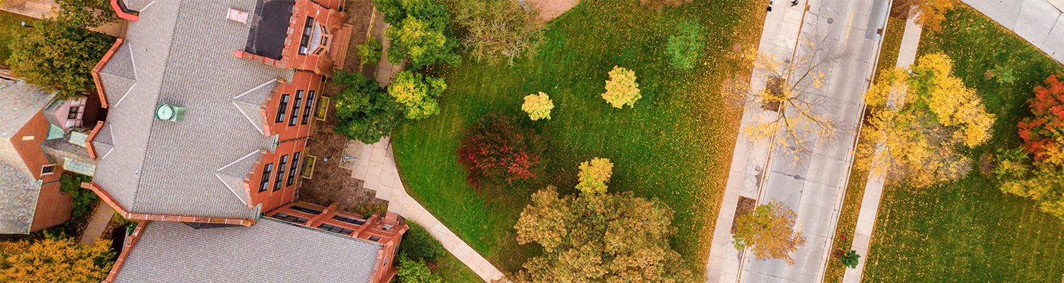 Aerial view of Milwaukee-Downer quad