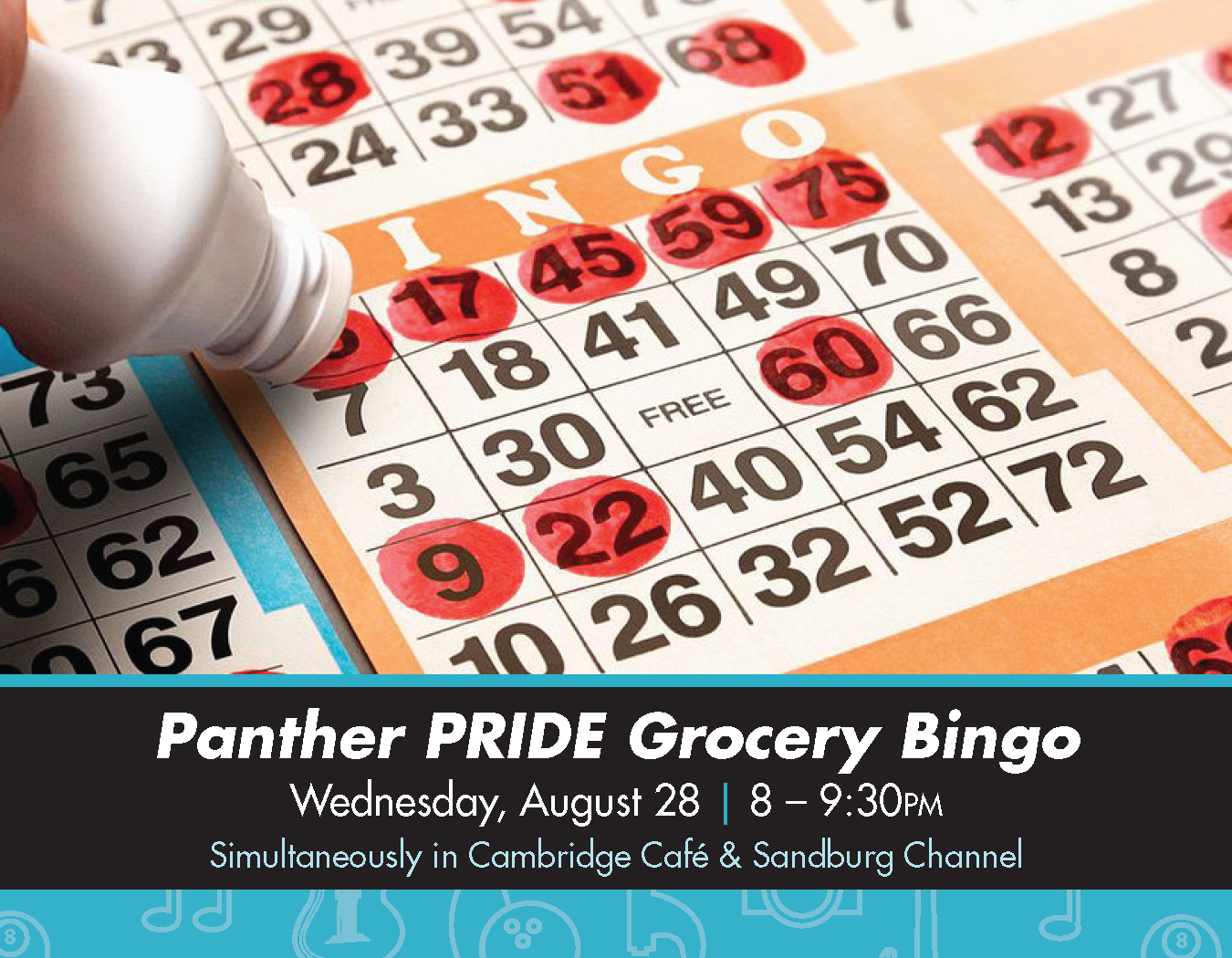 Details For Event 16166 – PRIDE Grocery Bingo
