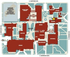 Map showing Curtin Hall
