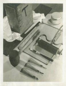 Relief printing tools, Milwaukee Handicraft Project